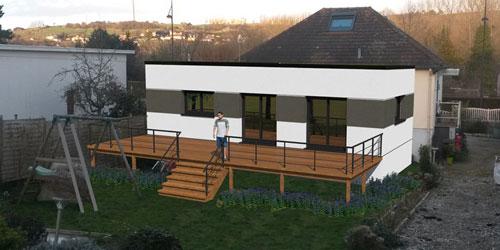 Rénovation, amélioration énergétique et extension de maison
